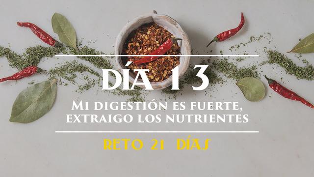 Día 13 - Mi digestión es fuerte, extraigo el máximo de nutrientes de los alimentos que ingiero