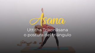 Uttitha Trikonâsana o postura del triángulo